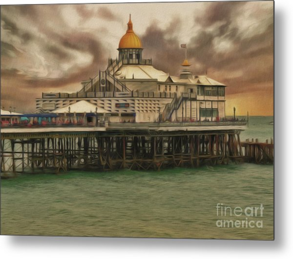 Metal Print featuring the photograph The End Of The Pier Show by Leigh Kemp