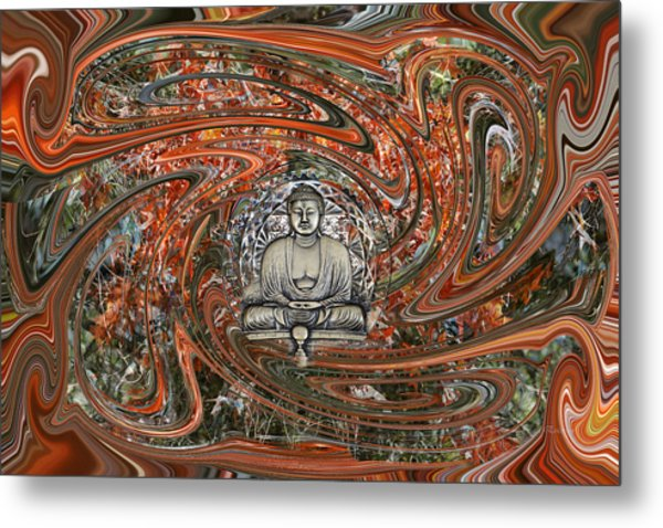 Metal Print featuring the digital art The Enlightened One And Nirvana by rd Erickson