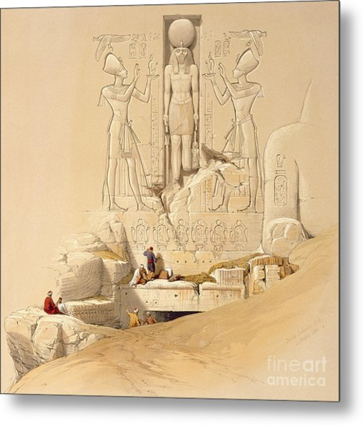 The Entrance To The Great Temple Of Abu Simbel Metal Print