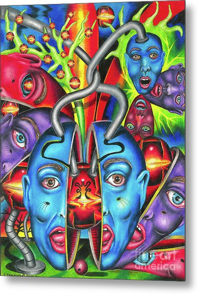 The Esoteric Force Of Molecular Mentality Metal Print