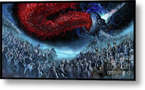 The Essence Of Time Matches No Flesh Metal Print