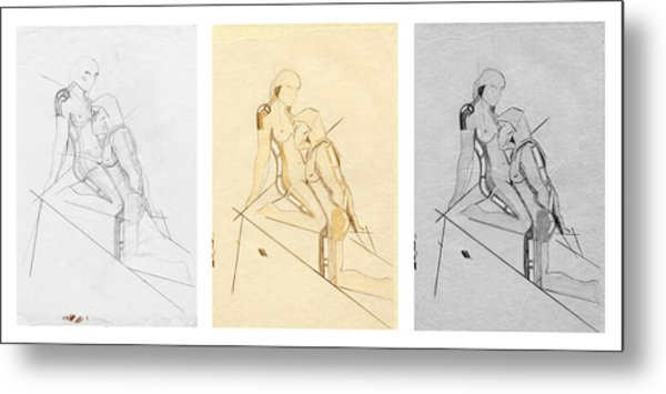 The Eternal Idol - Triptych - Homage Rodin Metal Print