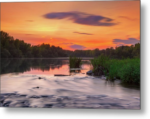 The Eve On The River Metal Print