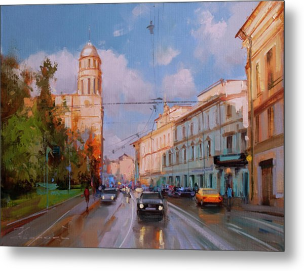 The Evening Is At Hand. Moscow, Ilyinka Street Metal Print
