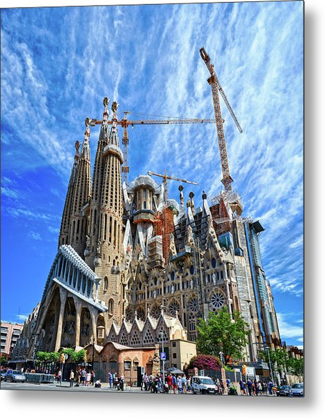 The Expiatory Temple Of The Holy Family Metal Print