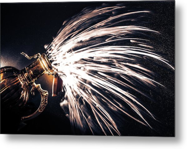 The Exploding Growler Metal Print