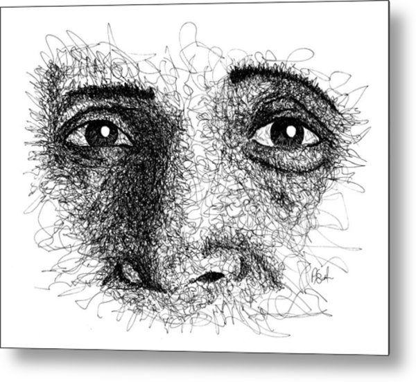 The Eyes Of Ramana Metal Print