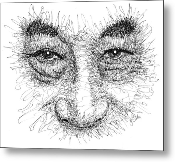 The Eyes Of The Dalai Lama Metal Print