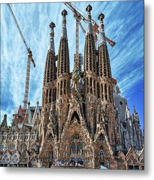 The Facade Of The Sagrada Familia Metal Print