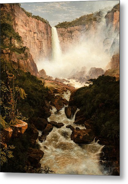 The Falls Of The Tequendama Near Bogota New Granada Metal Print