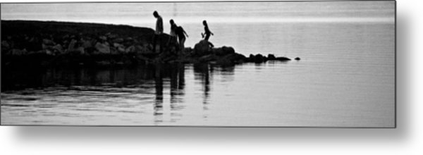 The Family That Plays Together Metal Print