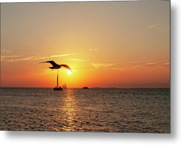 The Famous Key West Sunset  Metal Print