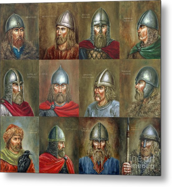 The Famous Vikings Metal Print