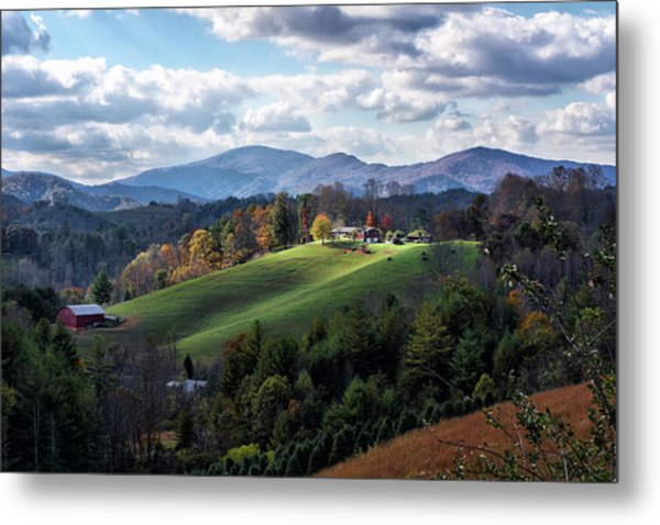 The Farm On The Hill Metal Print