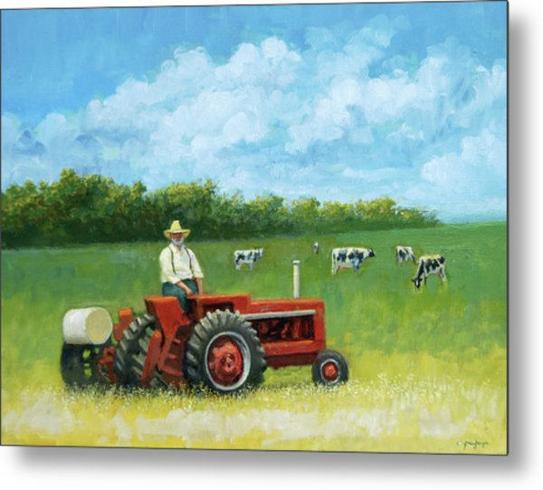 The Farmer Metal Print