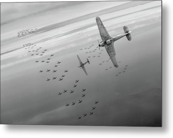 Metal Print featuring the photograph The Few Bw Version by Gary Eason
