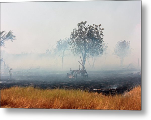 The Field Plow Metal Print