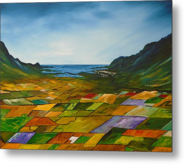 The Fields Of Dingle Metal Print