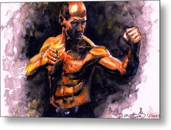 The Fighter.  D Metal Print