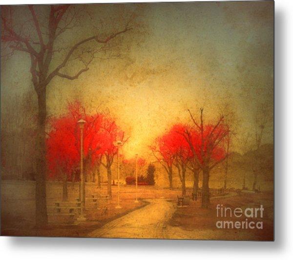The Fire Trees Metal Print