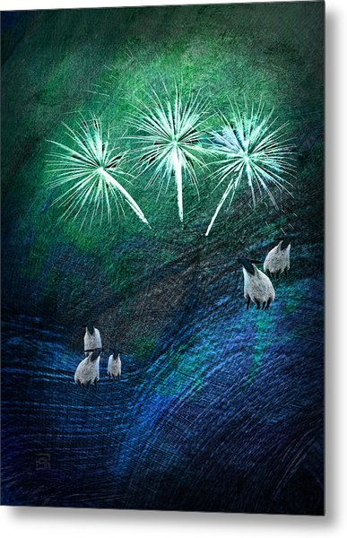 The Fireworks Are Starting Metal Print