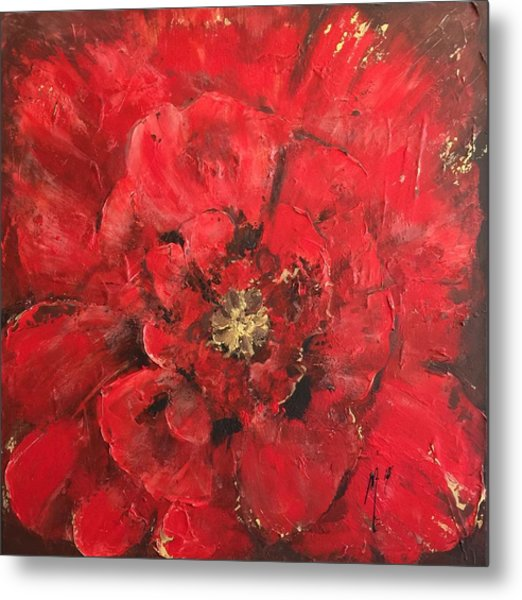The First Red Poppie. Metal Print
