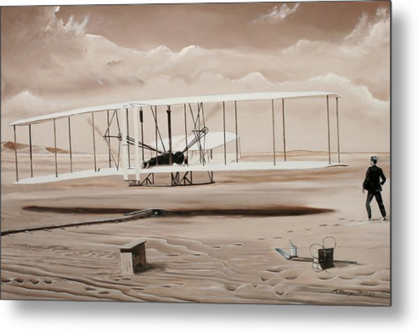 The First To Fly Metal Print by Kenneth Young