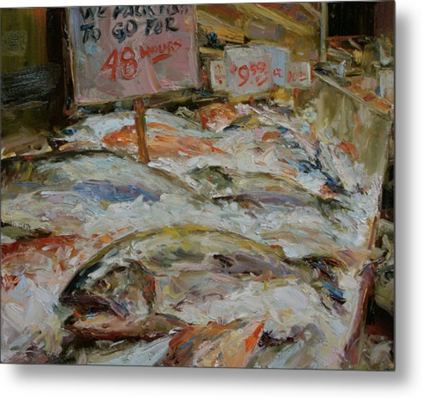 The Fish Market Metal Print by James Swanson