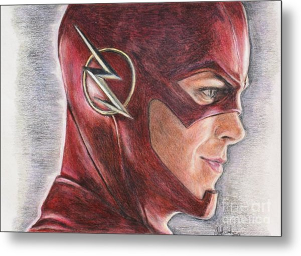 The Flash / Grant Gustin Metal Print