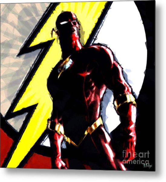 The Flash Metal Print