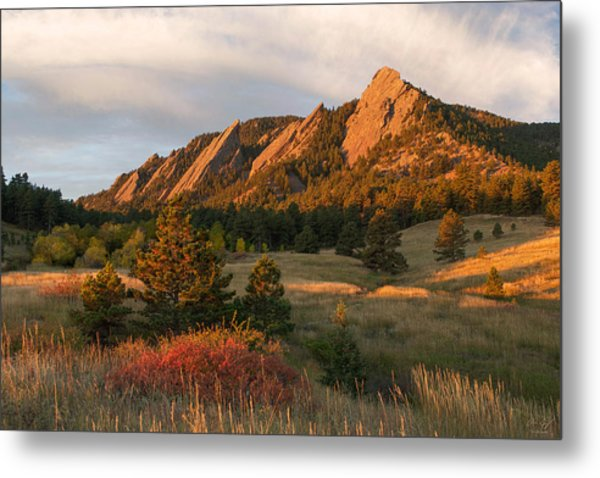 The Flatirons - Autumn Metal Print