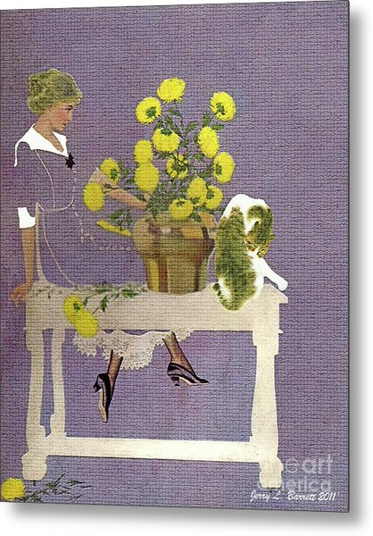 The Florist Metal Print by Jerry L Barrett