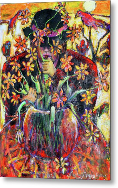The Flower Arranger Metal Print