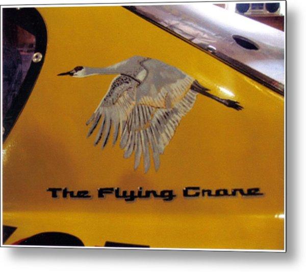 The Flying Crane Metal Print