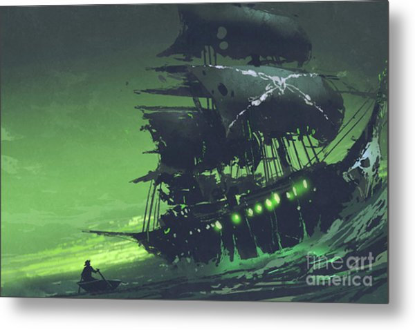 Metal Print featuring the painting The Flying Dutchman by Tithi Luadthong