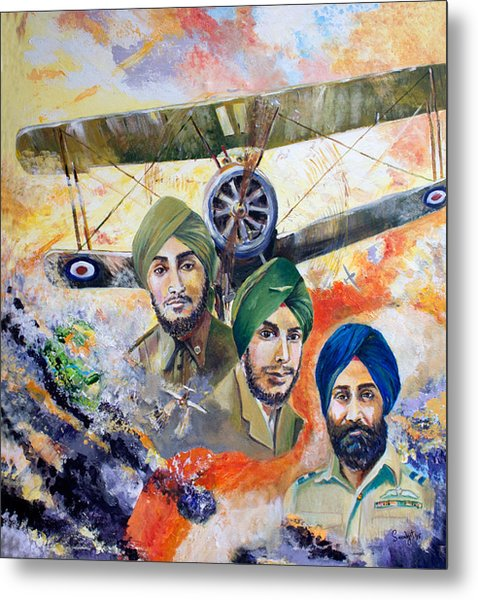 The Flying Sikhs Metal Print