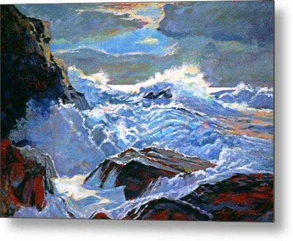The Foaming Sea Metal Print by David Lloyd Glover