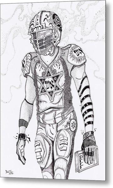 The Football King Metal Print