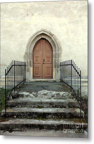 The Fortress Church's Side Door  Metal Print