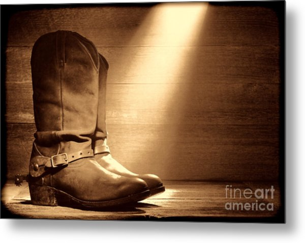 The Found Boots Metal Print