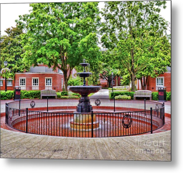 The Fountain At Radford University Metal Print