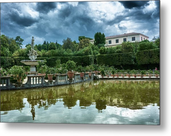 The Fountain Of The Ocean At The Boboli Gardens Metal Print