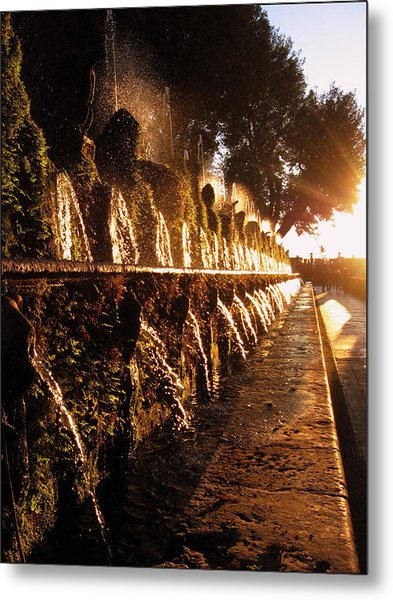Metal Print featuring the photograph The Fountains Of Villa D'este by Jessica Tabora