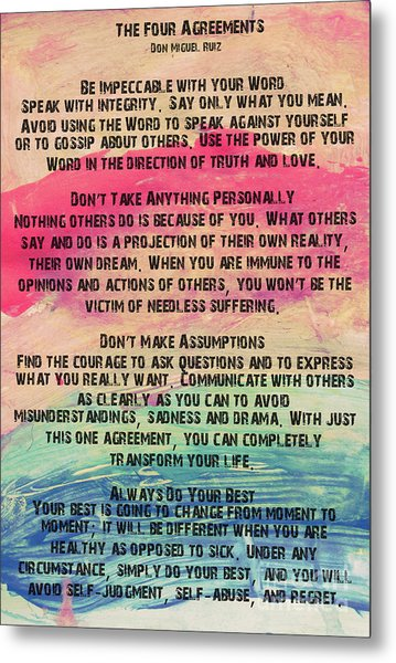 The Four Agreements 11 Metal Print