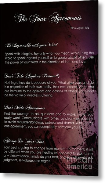 The Four Agreements 3 Metal Print