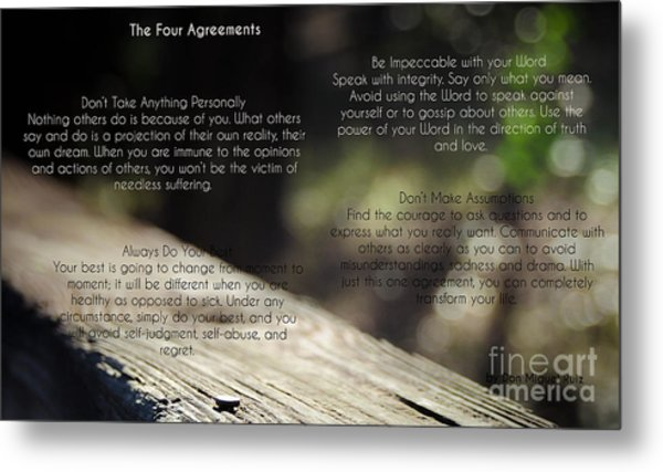 The Four Agreements 4 Metal Print