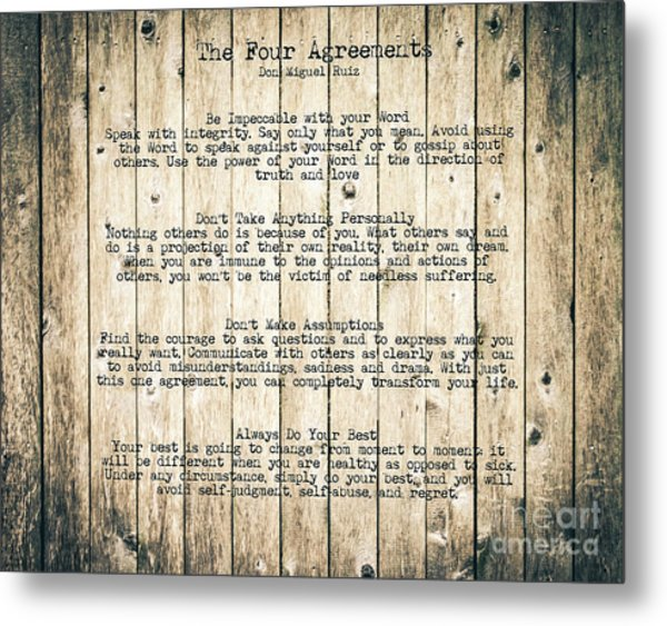 The Four Agreements 8 Metal Print
