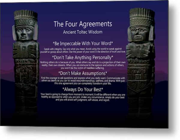 The Four Agreements Poster Metal Print