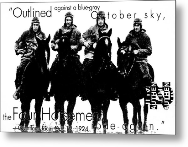 The Four Horsemen Of Notre Dame Metal Print