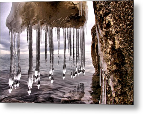 The Frozen Veil Metal Print by Russell Styles